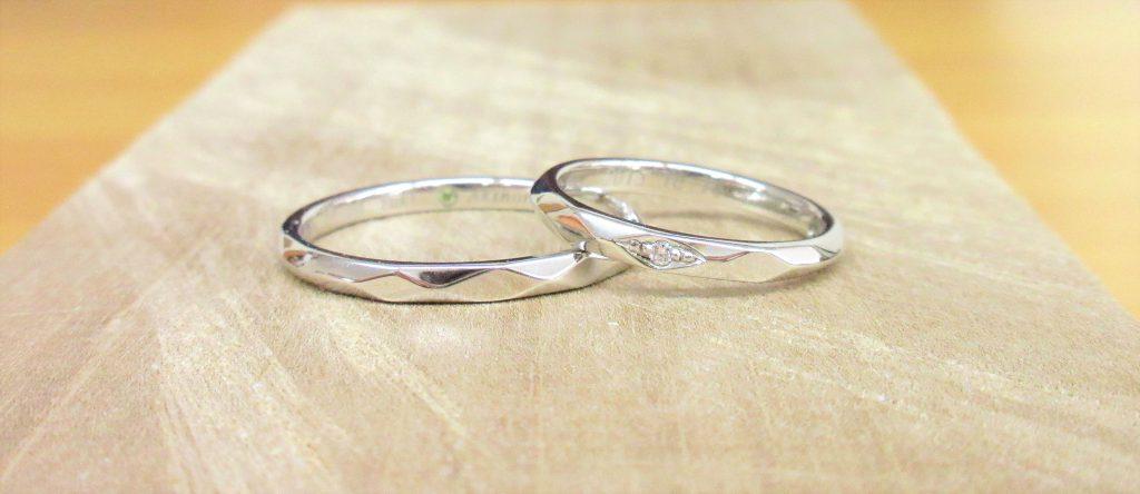 手作り結婚指輪完成品