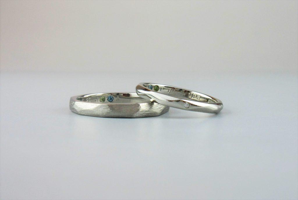時間をかけて二人で作った指輪