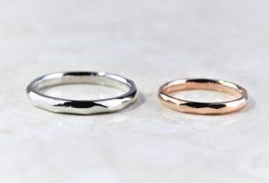 ひし形模様の結婚指輪